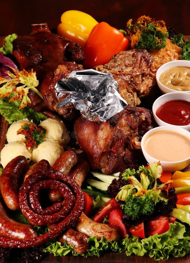 grillowany mieszanki mięsa zdjęcia stock