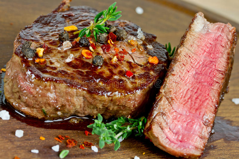 grillowany stek zdjęcia stock