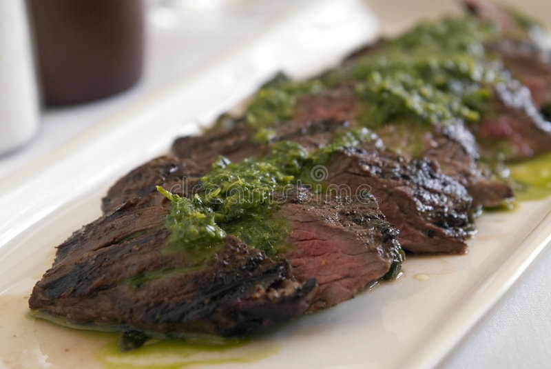 grillowany stek spódnicowy zdjęcia royalty free