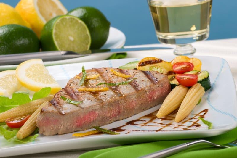 grillowany stek tuńczyka zdjęcie stock