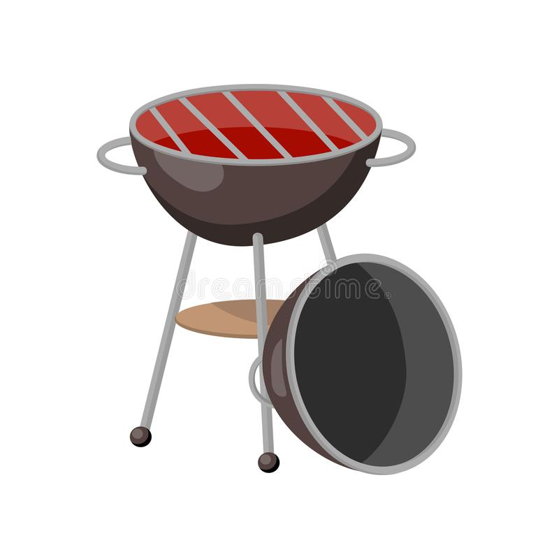 Grillparteigrillkarikatur-Vektor Illustration stock abbildung