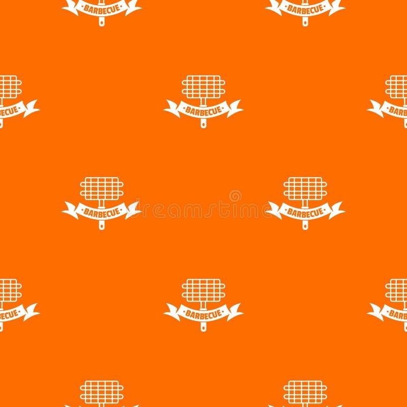 Grillpicknickmuster-Vektororange lizenzfreie abbildung