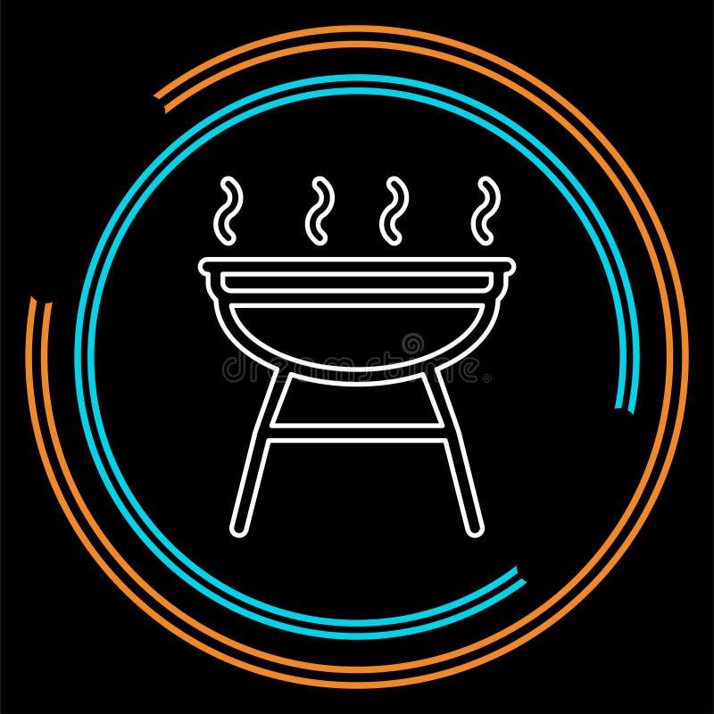 Grillpictogram - vectorbarbecuepartij - picknicksymbool vector illustratie