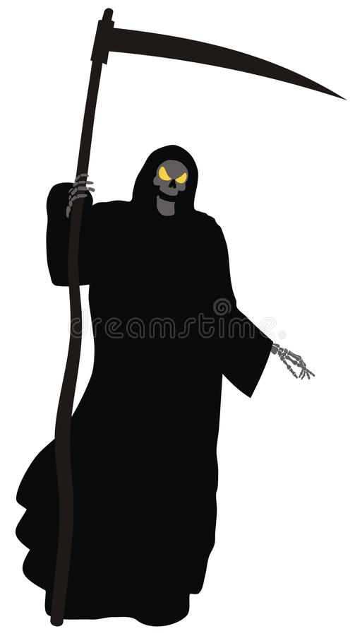 Download The Grim Reaper stock vector. Illustration of ghoul, horror - 11055716