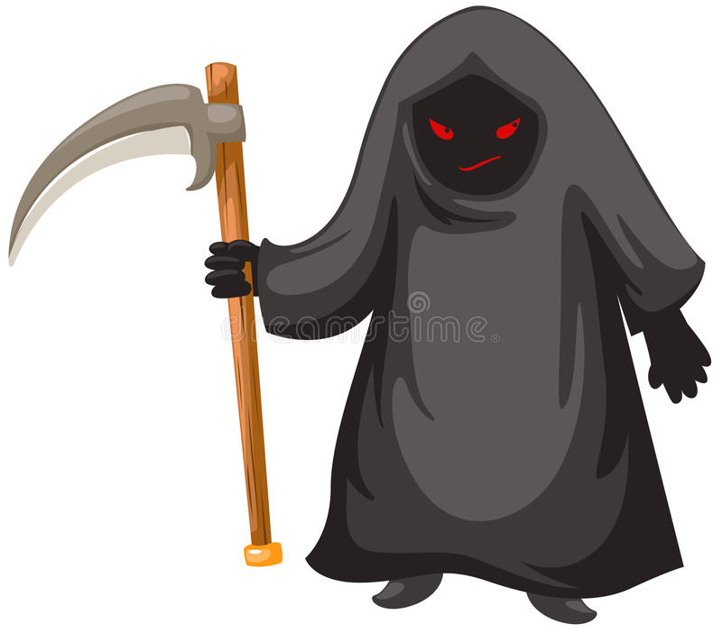 Download Grim Reaper stock illustration. Image of character, fear - 21064422