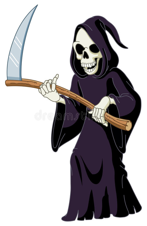 Grim reaper stock illustration