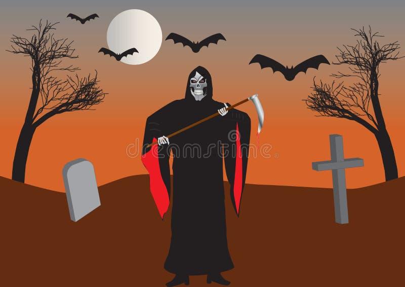 Download Grim Reaper stock vector. Illustration of cemetery, evil - 27014623
