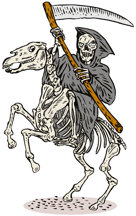 Grim Reaper vector illustration