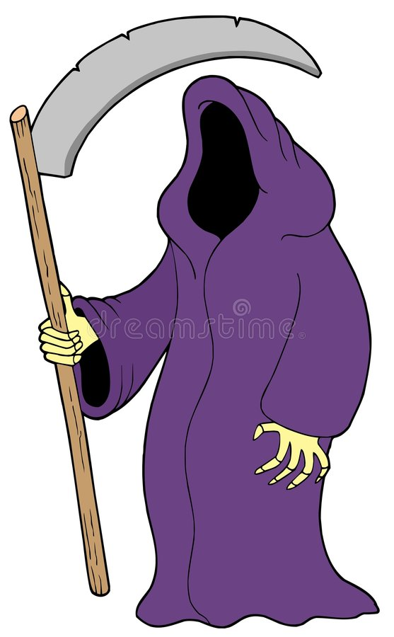 Download Grim reaper stock vector. Illustration of hood, objects - 6619531