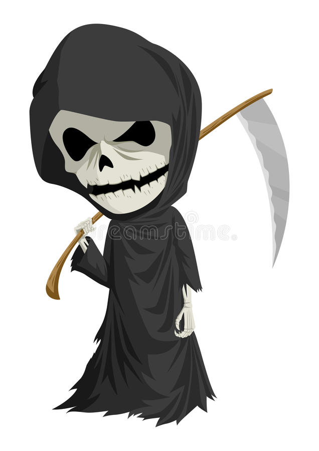 grim reaper stock vector image of halloween  chibi grim reaper clipart png grim reaper clipart black and white