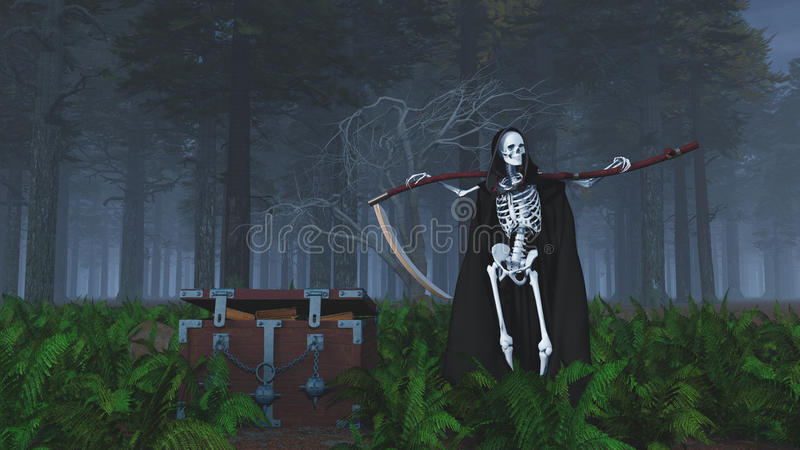 The Grim Reaper At The Cemetery The Night Stock ...