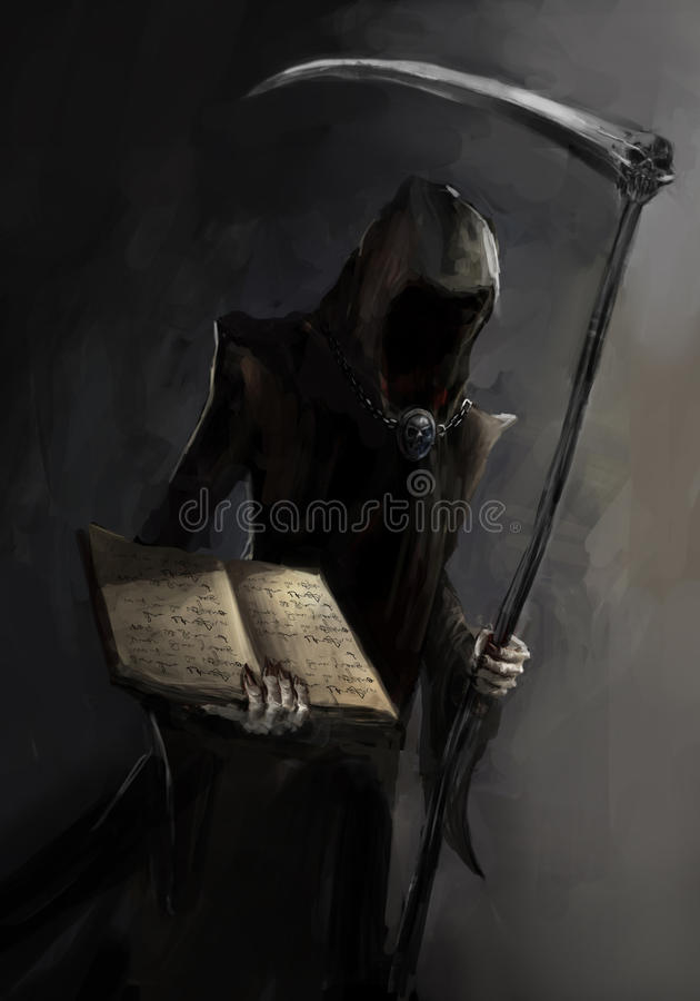 Grim reaper. With a death book