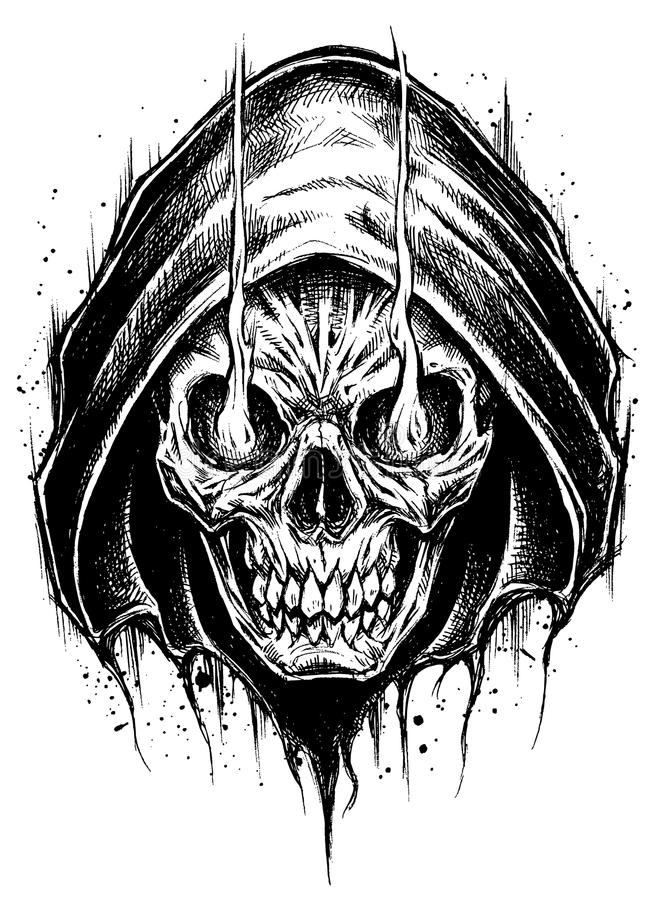 Grim reaper drawing line work stock vector illustration of download grim reaper drawing line work stock vector illustration of aggressive creature voltagebd Images