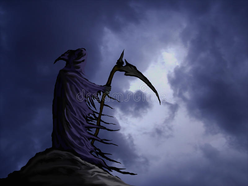 Grim reaper royalty free illustration
