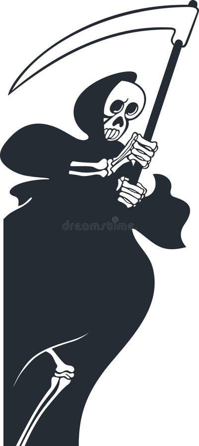 Download Grim reaper stock vector. Image of scythe, silhouette - 31425241