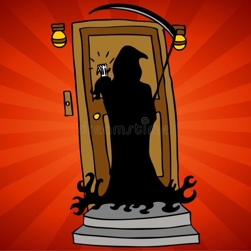 Grim Reaper Knocking vector illustration