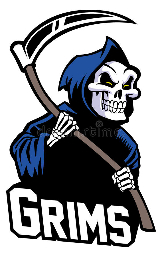 Grim reaper mascot royalty free illustration
