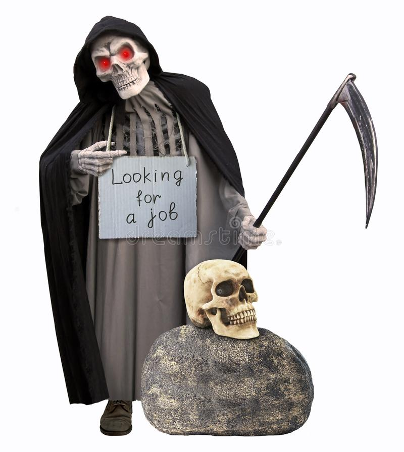 Grim reaper need job stock image