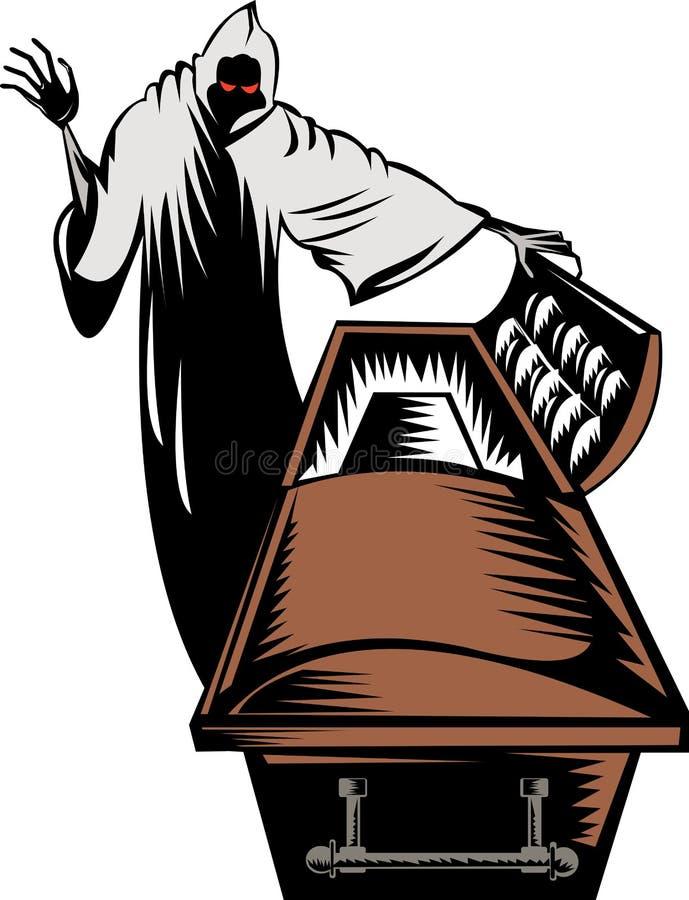 grim reaper with open casket stock illustration illustration of rh dreamstime com casket clip art free casket clip art free