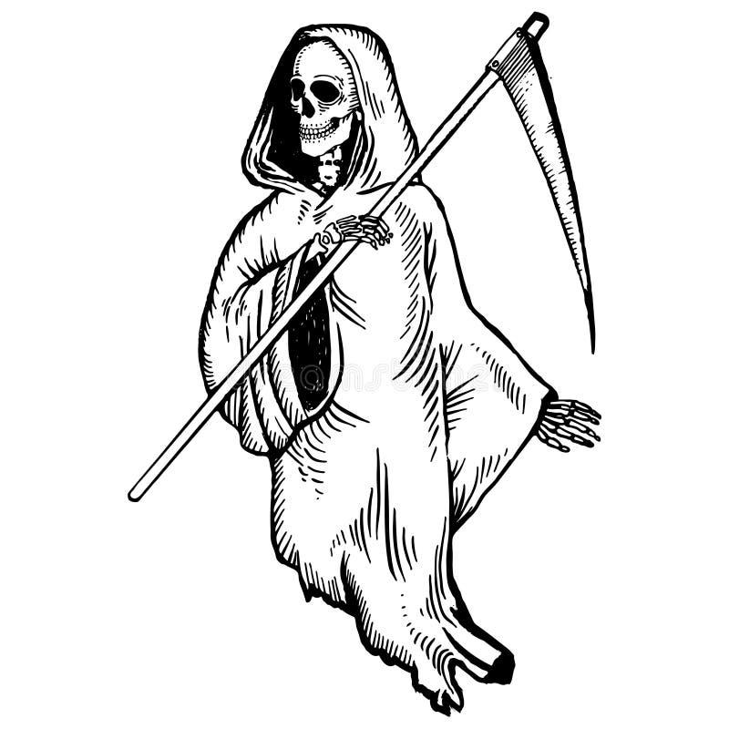 Grim reaper pop art vector illustration stock vector illustration download grim reaper pop art vector illustration stock vector illustration of illustration detailed voltagebd Images