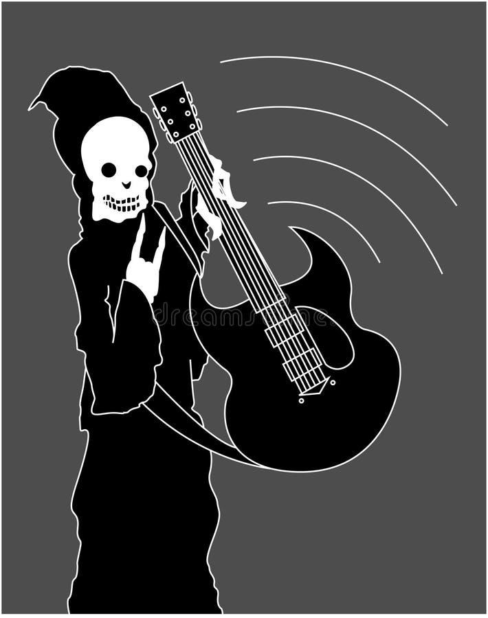 Grim Reaper Rocker royalty free illustration