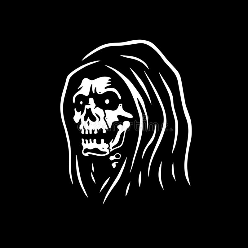 GRIM REAPER SKULL DEATH stock illustration
