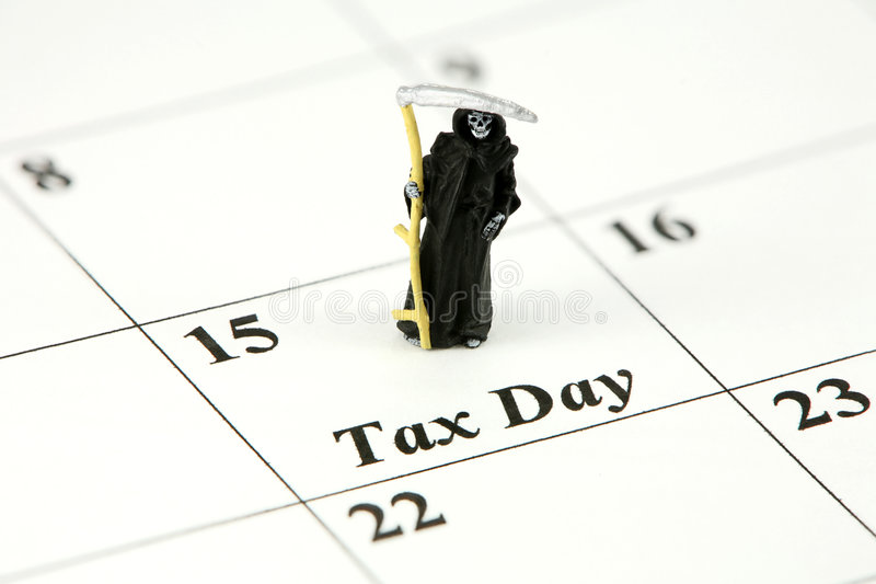 Download Grim Reaper on tax day stock photo. Image of figurine - 3016276