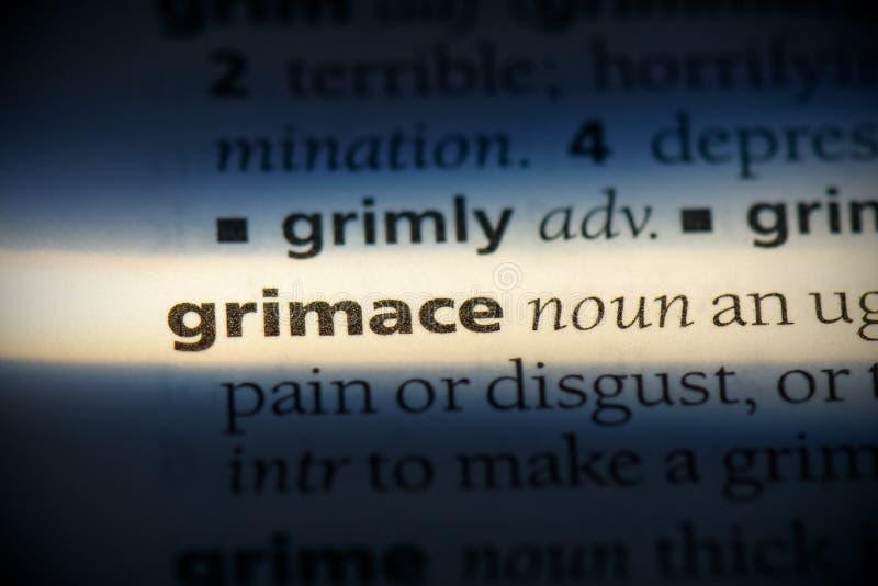 Grimace photo stock