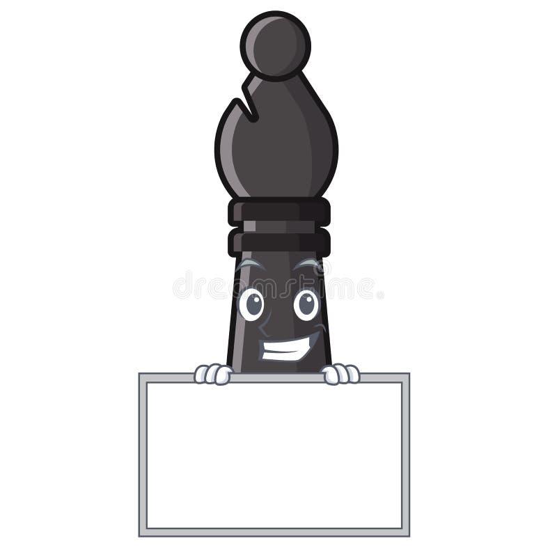 Grimacerie avec l'évêque d'échecs de conseil d'isolement avec la bande dessinée illustration libre de droits