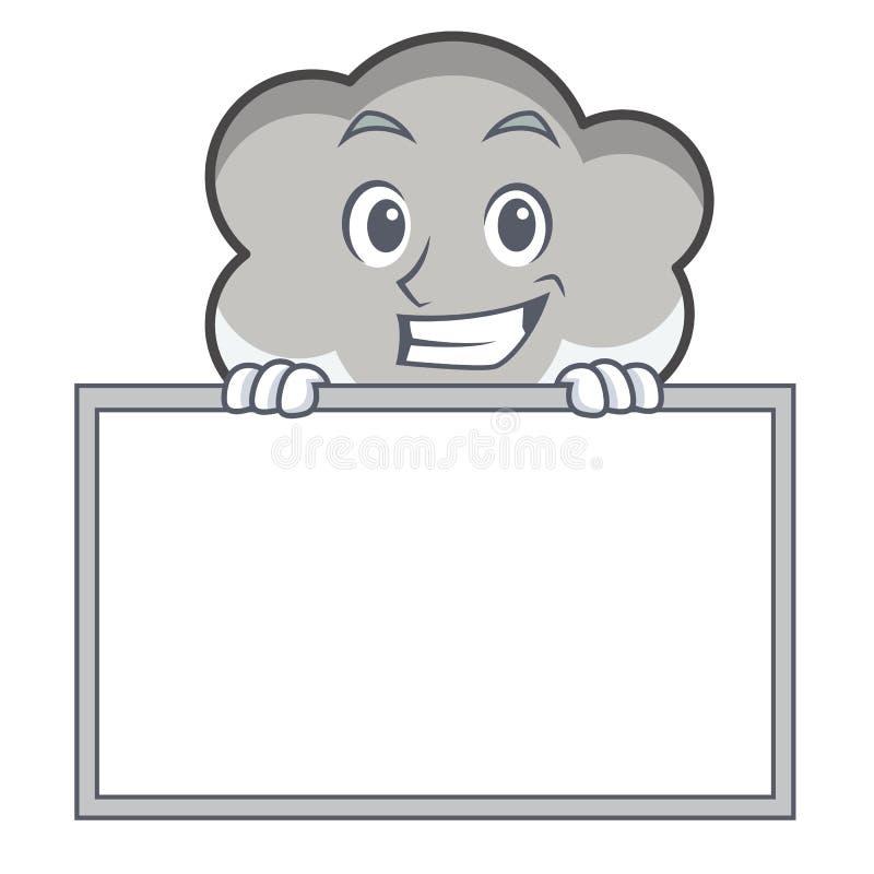 Grimacerie avec la bande dessinée de caractère de nuage de tonnerre de conseil illustration libre de droits