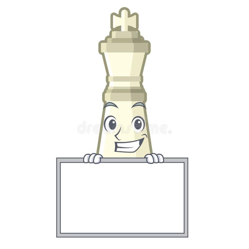 Grimacerie avec le roi d'échecs de conseil d'isolement dans le caractère illustration de vecteur