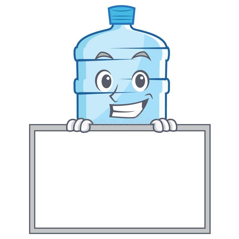 Grimacerie avec le style de bande dessinée de caractère de gallon de conseil illustration de vecteur