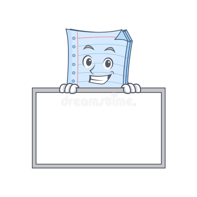 Grimacerie avec le style de bande dessinée de caractère de carnet de conseil illustration de vecteur