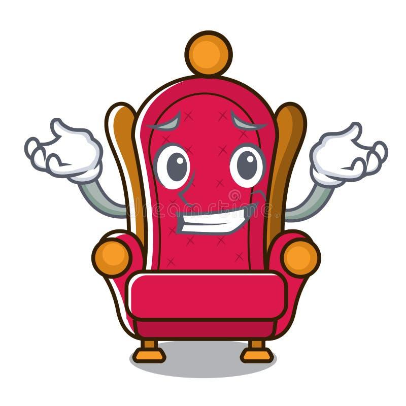 Grimacerie de la bande dessinée de caractère de trône de roi illustration de vecteur