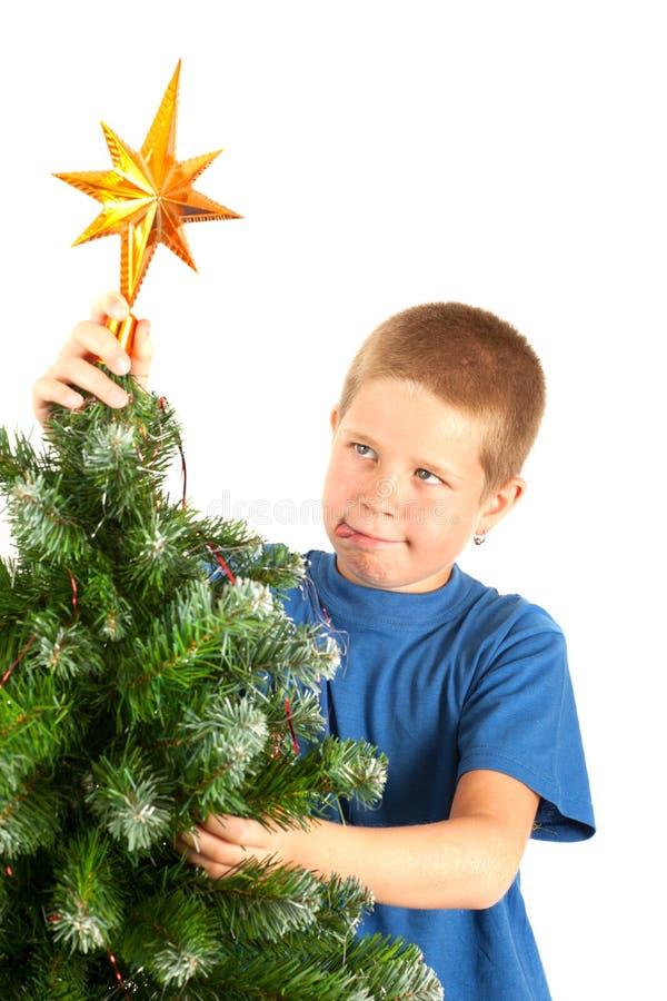 Grimaces à Noël photographie stock libre de droits