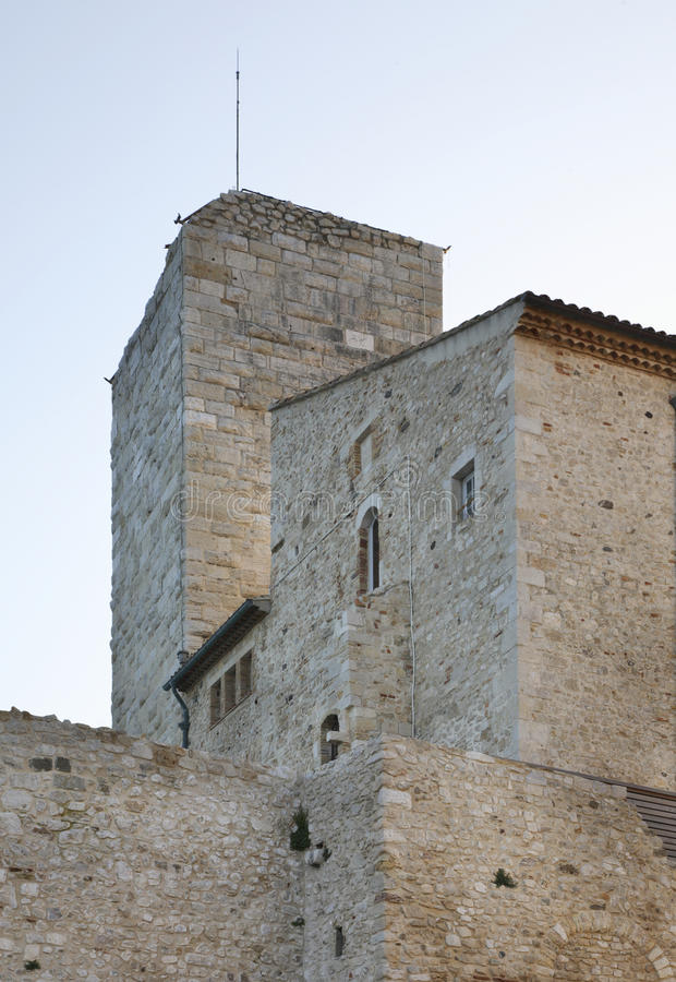 Grimaldi城堡在安地比斯 法国 库存照片