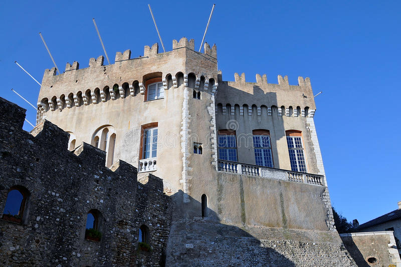 Grimaldi Castle, Haut de Cagnes, French Riviera. The Grimaldi Castle located at the top of Haut de Cagnes with its fourteenth century fortress, French Riviera stock image