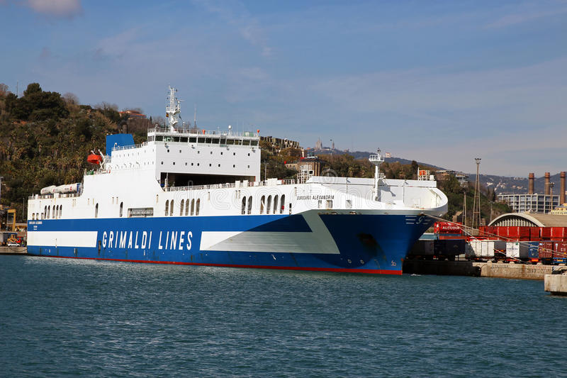 Grimaldi Lines. The Grimaldi family has had links to shipping for many generations. According to their own records, the oldest written records linking the stock photo