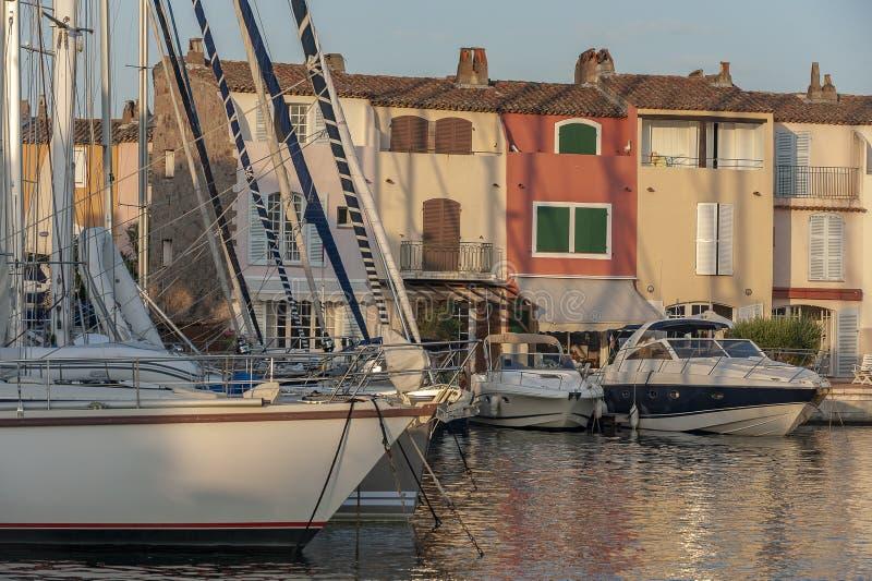 Grimaud France portuário imagens de stock royalty free