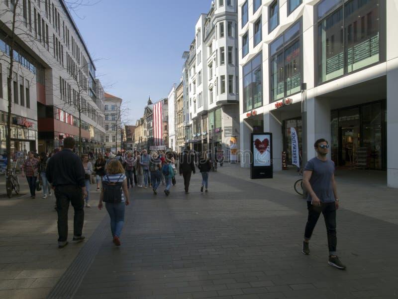 Grimmaische street, Leipzig, Germany stock photography