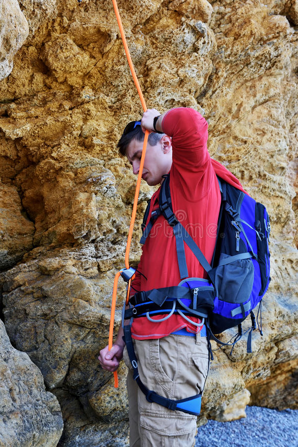 grimpeur photographie stock libre de droits