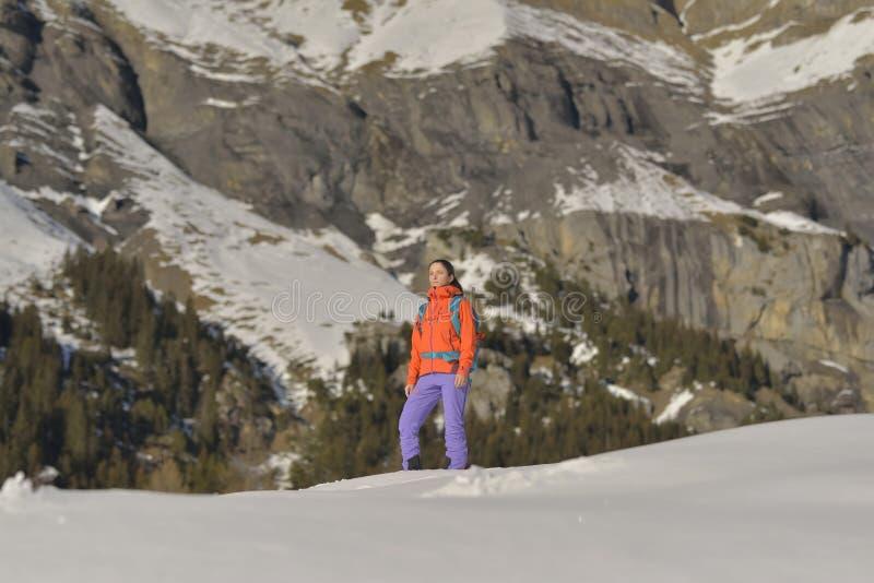 Grimpeur de montagne image stock