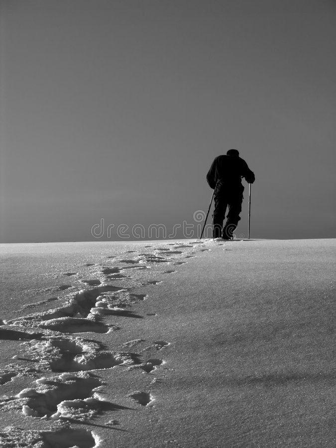 Grimpeur de neige photographie stock libre de droits