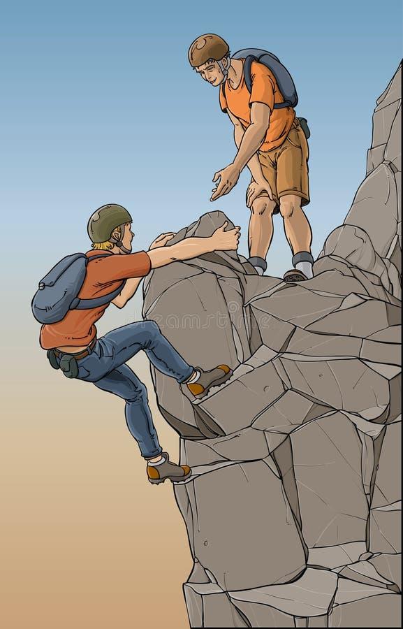 Grimpeurs de montagne illustration stock