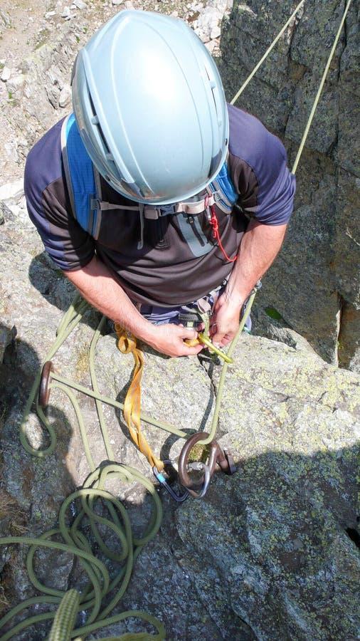Grimpeurs de roche à Chamonix images stock