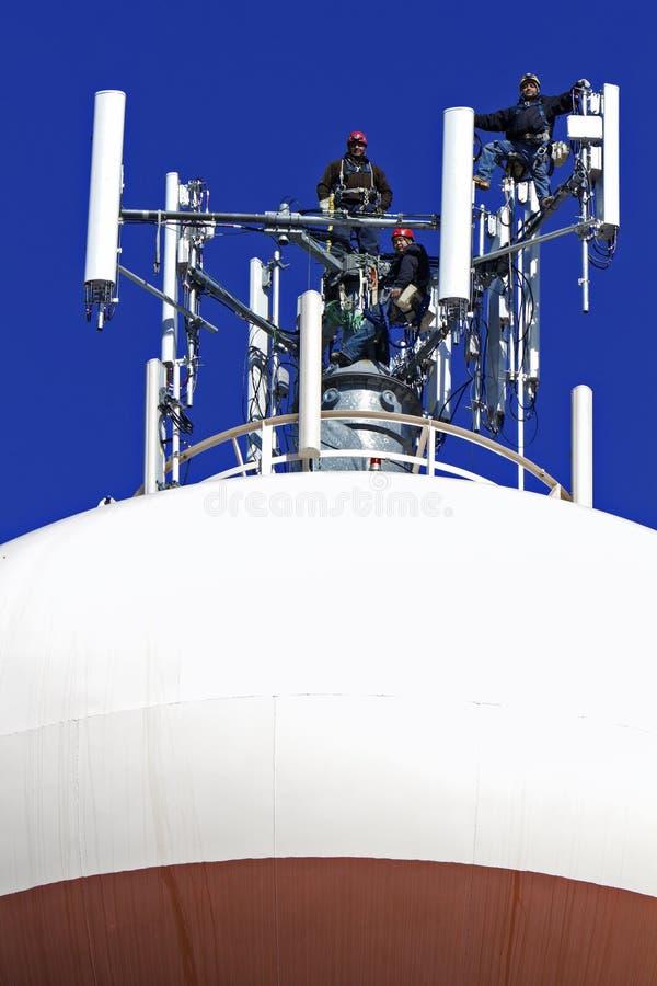 Grimpeurs et antennes photo libre de droits