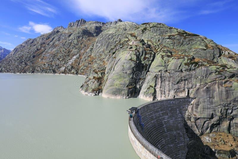 Grimsel Barrier湖  免版税图库摄影