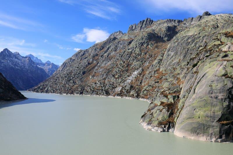 Grimsel Barrier湖  库存图片
