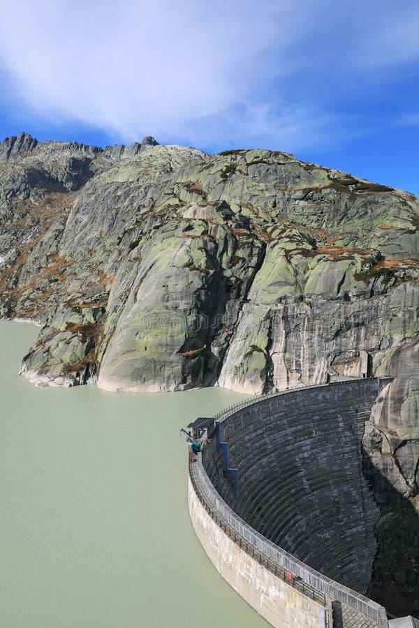 Grimsel Barrier湖  图库摄影