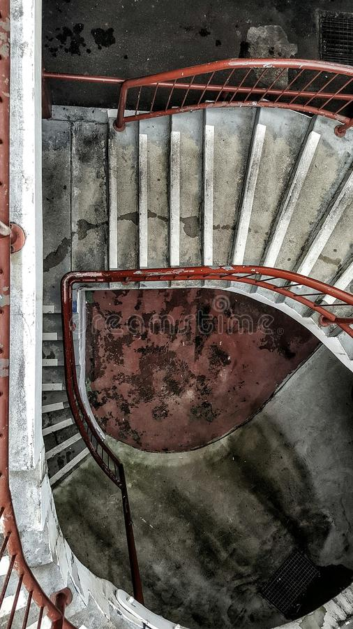 Grimy staircase royalty free stock photography